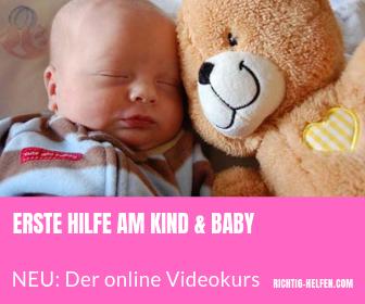 erste hilfe am kind baby