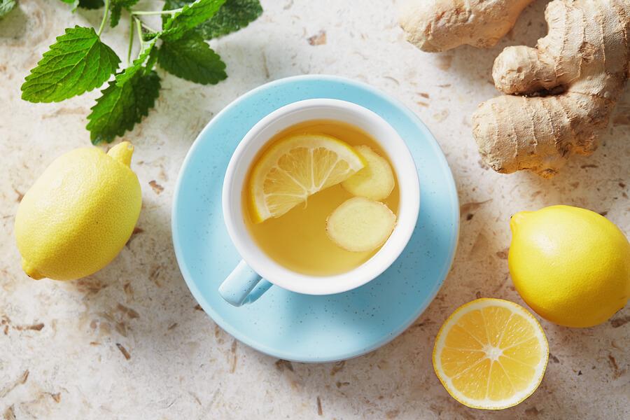 ingwer zitronen honig tee