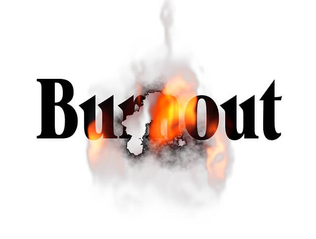 burnout grafik feuer