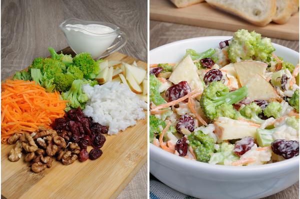 salat mit zutaten