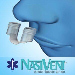Mittel gegen Schnarchen Nasivent Tube Plus - Starter Set - Anti Schnarch Mittel (Mit Aufbewahrungsdose)