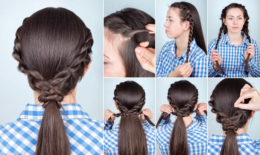 Ponytail Braid Tutorial - Anleitung Pferdeschwanz Frisur