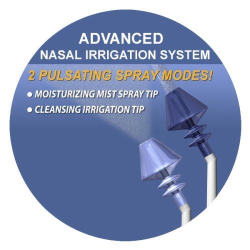 """Die """"SinuPulse Elite"""" - Nasendusche für die Nasenspülung als kompaktes Spülsystem für die Nasennebenhöhlen zum Reduzieren von Schnarchen durch die Nase"""