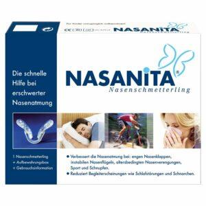 Was kann man gegen schnarchen tun - NASANITA Nasenschmetterling